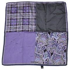 Beautifully Elegant Shades of Lavender & Violet Silk Handkerchief
