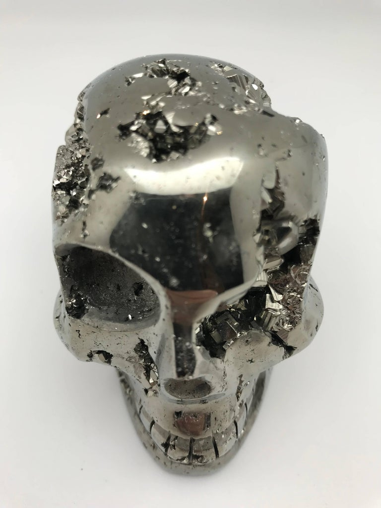Peruvian Large Pyrite Skull from Peru For Sale