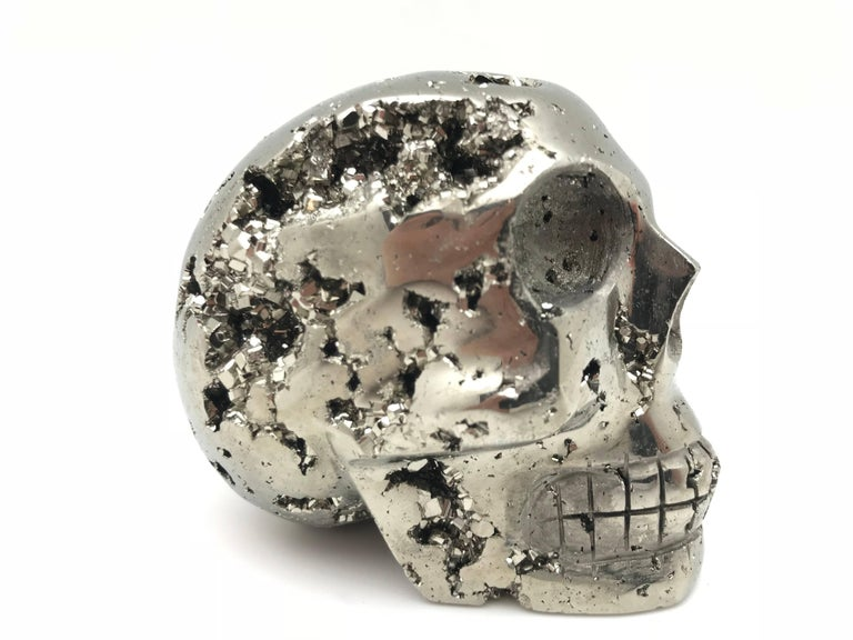 Large Pyrite Skull from Peru For Sale 2