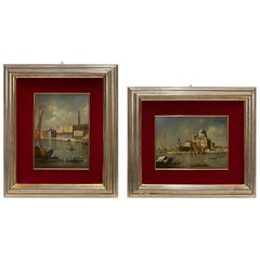 Beautifully Framed Pair of Venice Landscapes