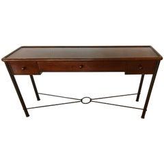 Beautifully Made Mahogany Console Sofa Table by Grange