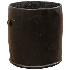 Beautifully Rustic Hand Carved Wooden Storage Vessel, India, Mid-20th Century