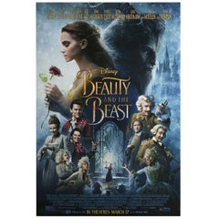 """""""Beauty and the Beast"""" 2017 U.S. One Sheet Film Poster"""