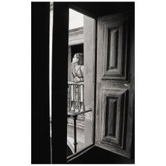 """Beauty at the Window"" Black & White Photography Portrait - Gelatin Silver Print"