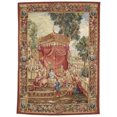 Beauvais French Style Tapestry, the Collation the Story of the Emperor of China