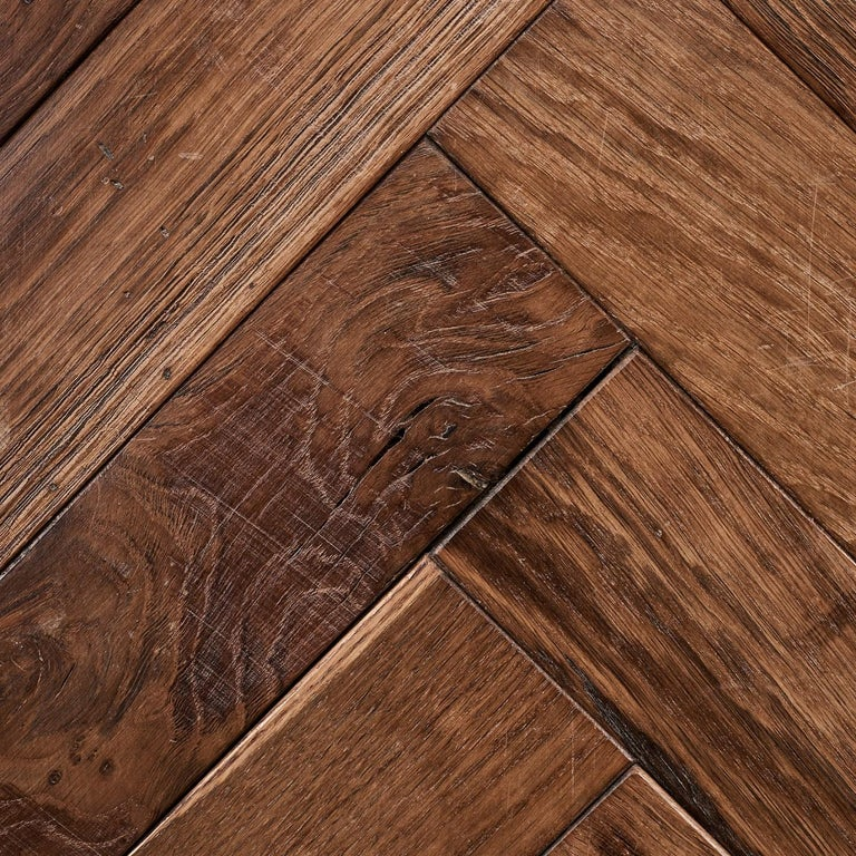 Square edged French oak parquet blocks with rusticated finish.  The timber for these solid oak parquet blocks is carefully sourced from suppliers in the Normandy region of France for beauty and durability.  Individual blocks are 50 cm long by