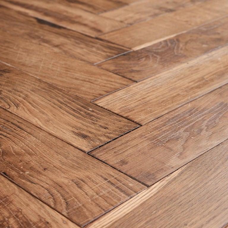 Louis XIV Beauvais Oak Parquet Rusticated French Oak Block Flooring For Sale