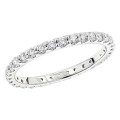Beauvince Almost Eternity Round Diamond Band Ring in White Gold