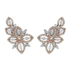 Beauvince Diamond Earrings and Climbers in Rose and White Gold