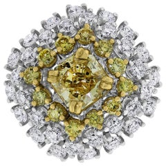Beauvince Genelia Yellow Diamond Solitaire Cocktail Ring in Gold