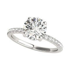 Beauvince GIA Certified 1.70 Carat Round GVVS2 Engagement Ring