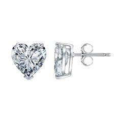 Beauvince GIA Certified 2.28 Carat Heart Shape Solitaire Diamond Studs