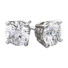 Beauvince GIA HVS2 Certified 2.01 Carat Round Solitaire Diamond Studs