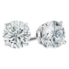 Beauvince GIA IVS2 Certified 14.01 Carat Round Solitaire Diamond Studs