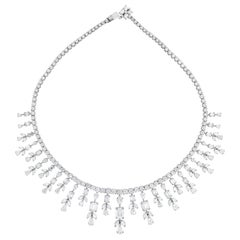 Beauvince Michelle Diamond Necklace in White Gold