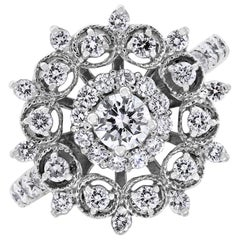 Beauvince Snowflakes 1.26 Carat Diamond Ring in White Gold