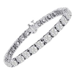 Beauvince Solitaire Diamond 20.05 Carat Tennis Bracelet in White Gold