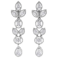 Beauvince Tara Diamond Earrings in White Gold