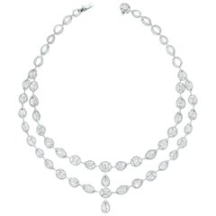 Beauvince Tara Diamond Necklace in White Gold