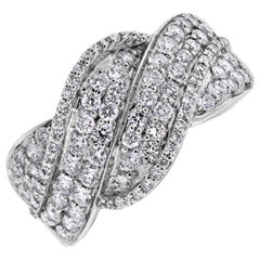 Beauvince Waves Diamond Band in White Gold
