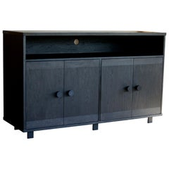 Beauvoir Four Door Cabinet in Ebonized Oak