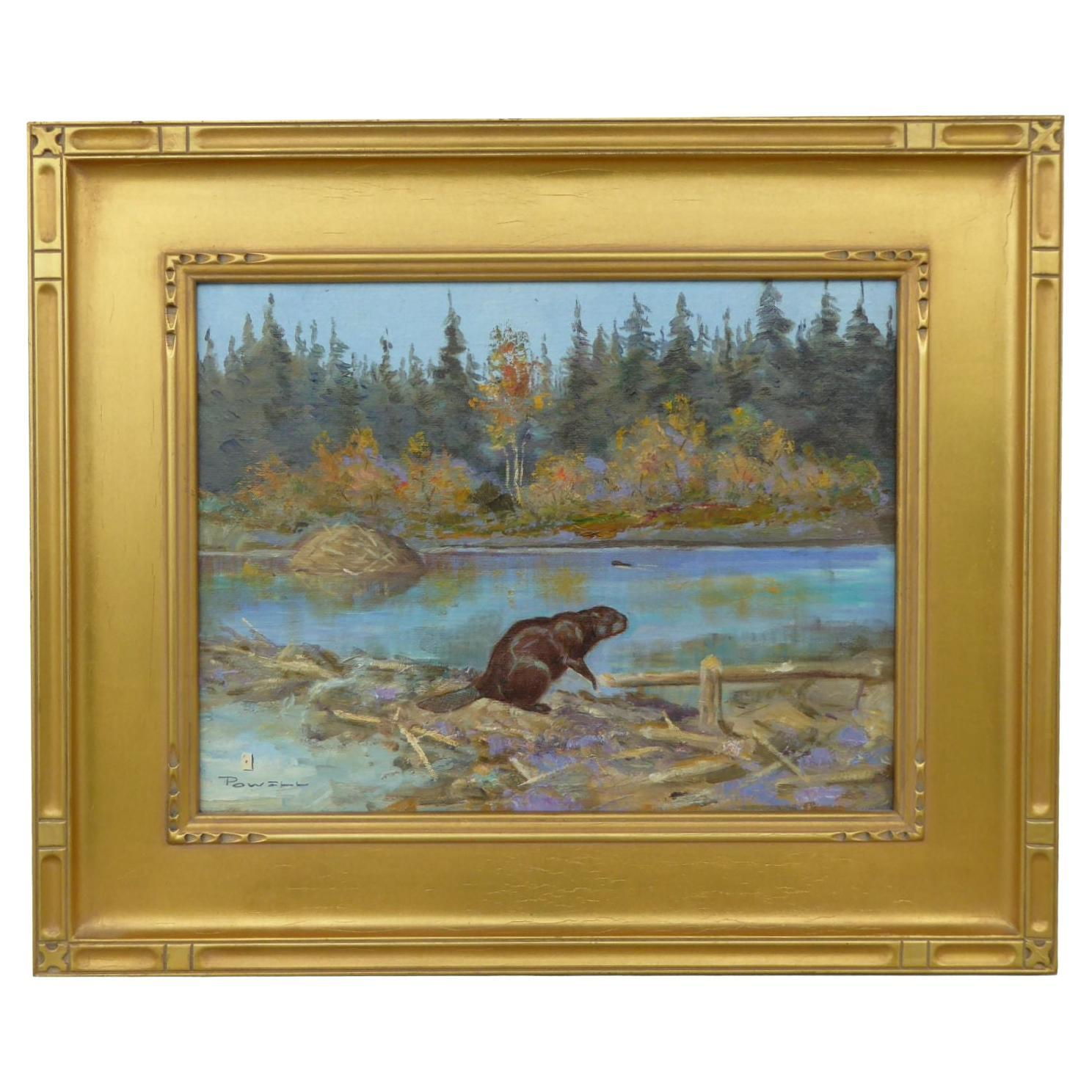 """""""Beaver Pond"""" Original Oil Painting by Ace Powell"""