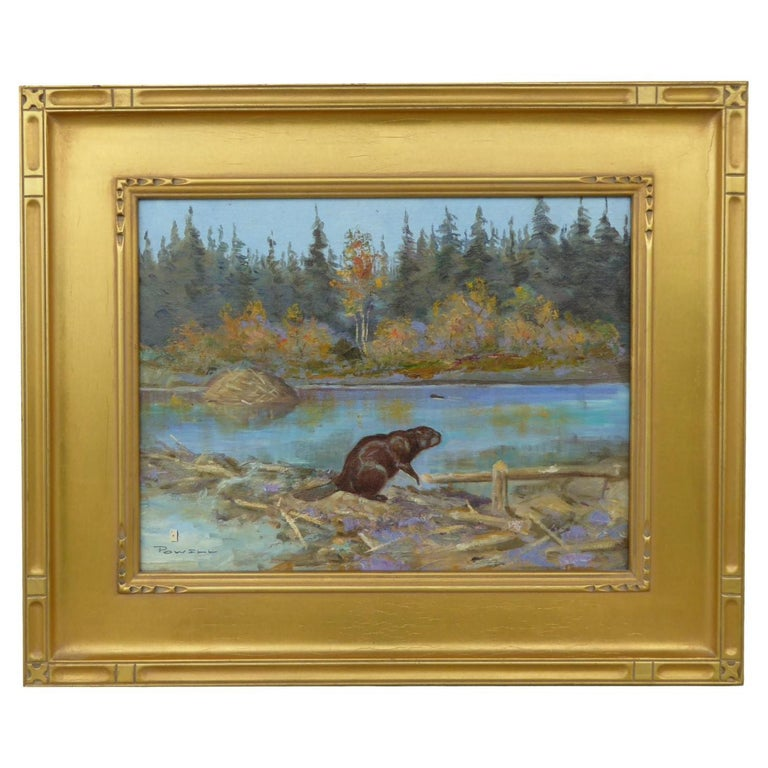 """""""Beaver Pond"""" Original Oil Painting by Ace Powell For Sale"""