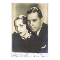 Bebe Daniels and Ben Lyon Vintage Autographed Black and White Photo