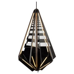 Bec Brittain Echo 4, Mirror and Oil Rub Bronze LED Chandelier, Floor Sample