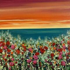Becca Clegg, Rainbow Coast, Contemporary Art, Floral Art, Affordable Art