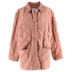 Becken Dusty Pink Oversized Quilted Paddock Jacket M