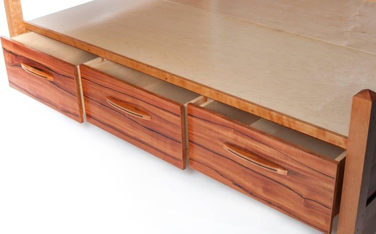 Hand-Crafted Custom Bed by Rossi Studio For Sale