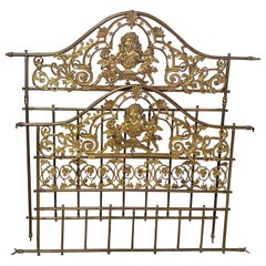 Bed Frame, Gilded Bronze and Metal, 19th Century