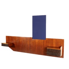 Bed Headboard Attributed to Giancesare Battaini Mahogany Vintage, 1960s