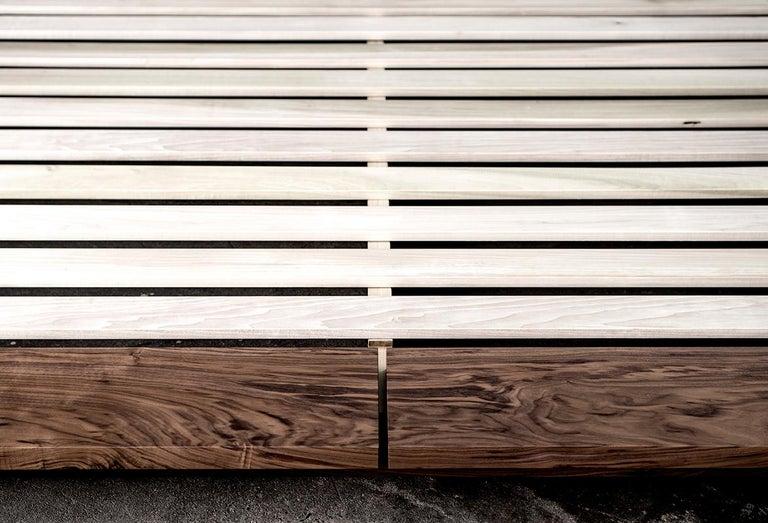 Bed, King, Platform, Mid-Century Modern Style, Custom, Hardwood, Semigood, Rift For Sale 2