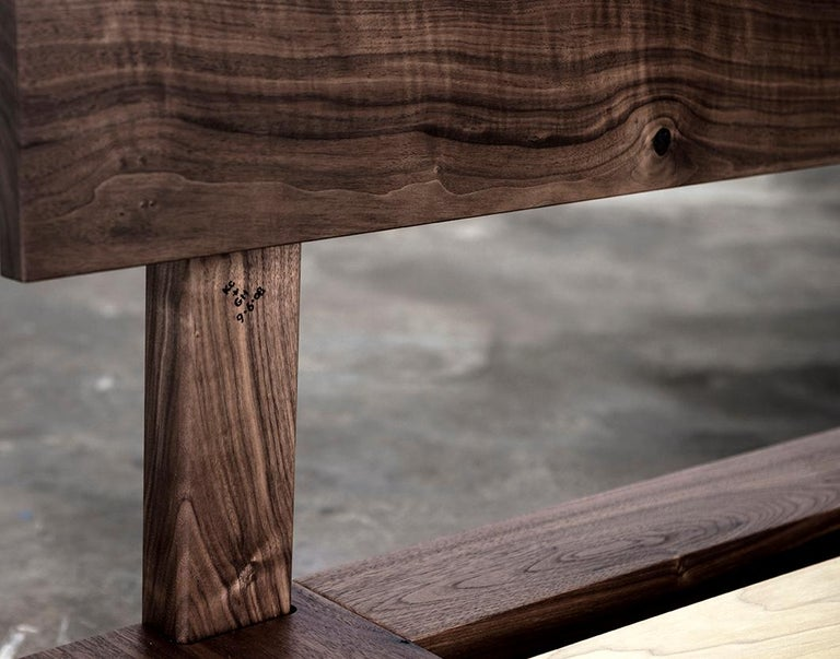Bed, King, Platform, Mid-Century Modern Style, Custom, Hardwood, Semigood, Rift For Sale 3