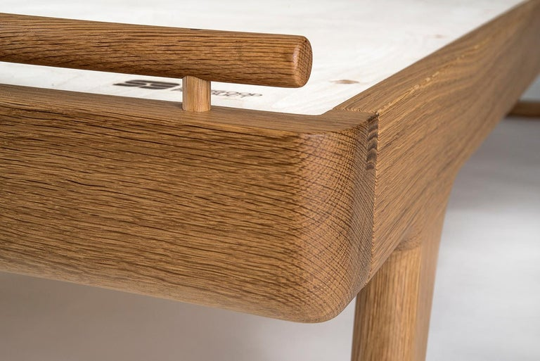 Mid-Century Modern Bed, Headboard, Danish Cord, Custom, Mid Century Modern-Style, Woven, Hardwood, For Sale
