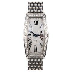 Bedat & Co. No.3 Stainless Steel and 1.24 Carat Diamond Quartz Wristwatch