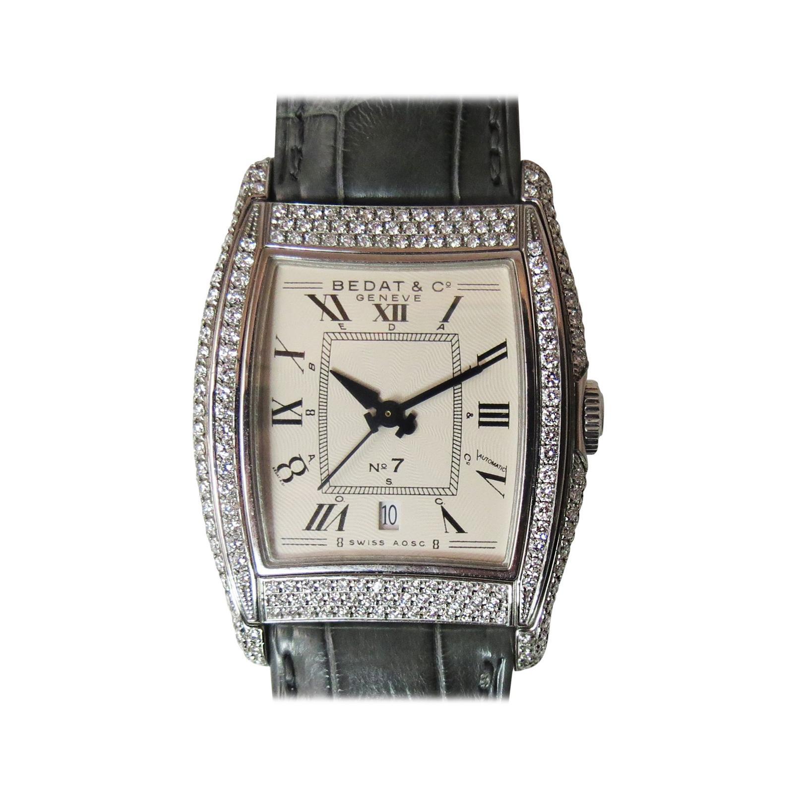 Bedat Ladies Stainless Steel Diamond No. 7 Automatic Wristwatch