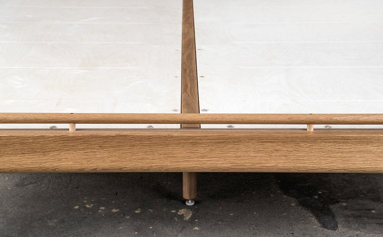 Cord Bed, Queen, Danish cord, Woven, Headboard, Mid Century Modern-Style, Hardwood For Sale