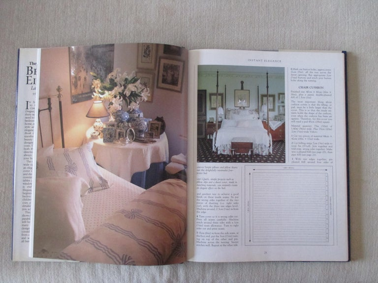 'Bedroom Elegance' hardcover book The author of the immensely popular complete book of curtains and drapes returns with a new book of sewing projects specifically for the bedroom, great ideas for achieving the bedroom of your dreams. 60 full-color