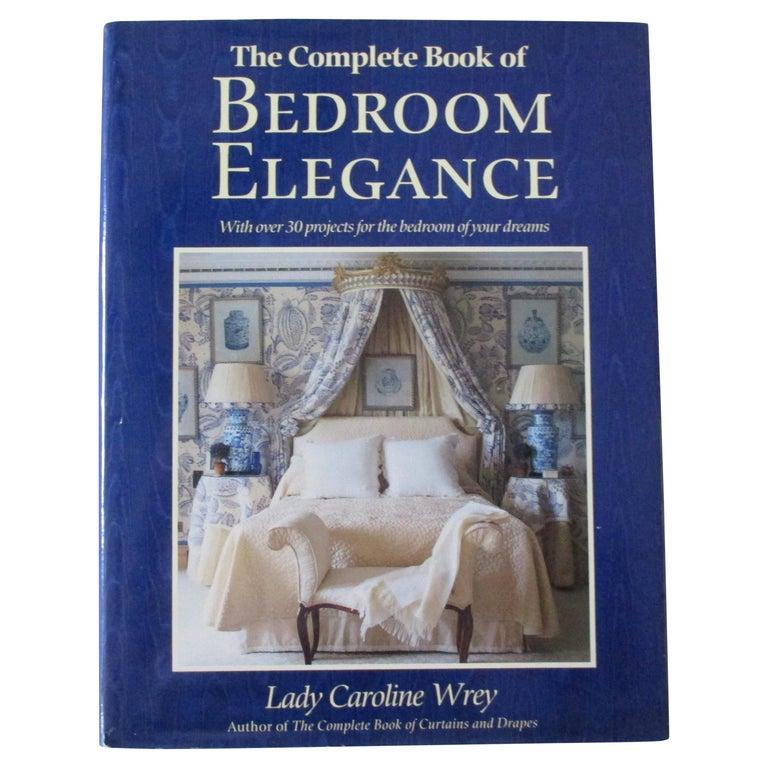 'Bedroom Elegance' Hardcover Book For Sale