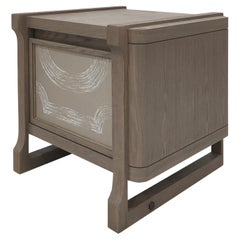 Bedside Cabinet with De Gournay Covering Art Déco Garden André Fu Living Storage