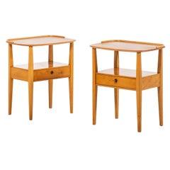 Bedside / Side Tables Produced by Nordiska Kompaniet in Sweden