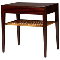 Bedside Table Designed by Severin Hansen for Haslev Möbelfabrik, Denmark