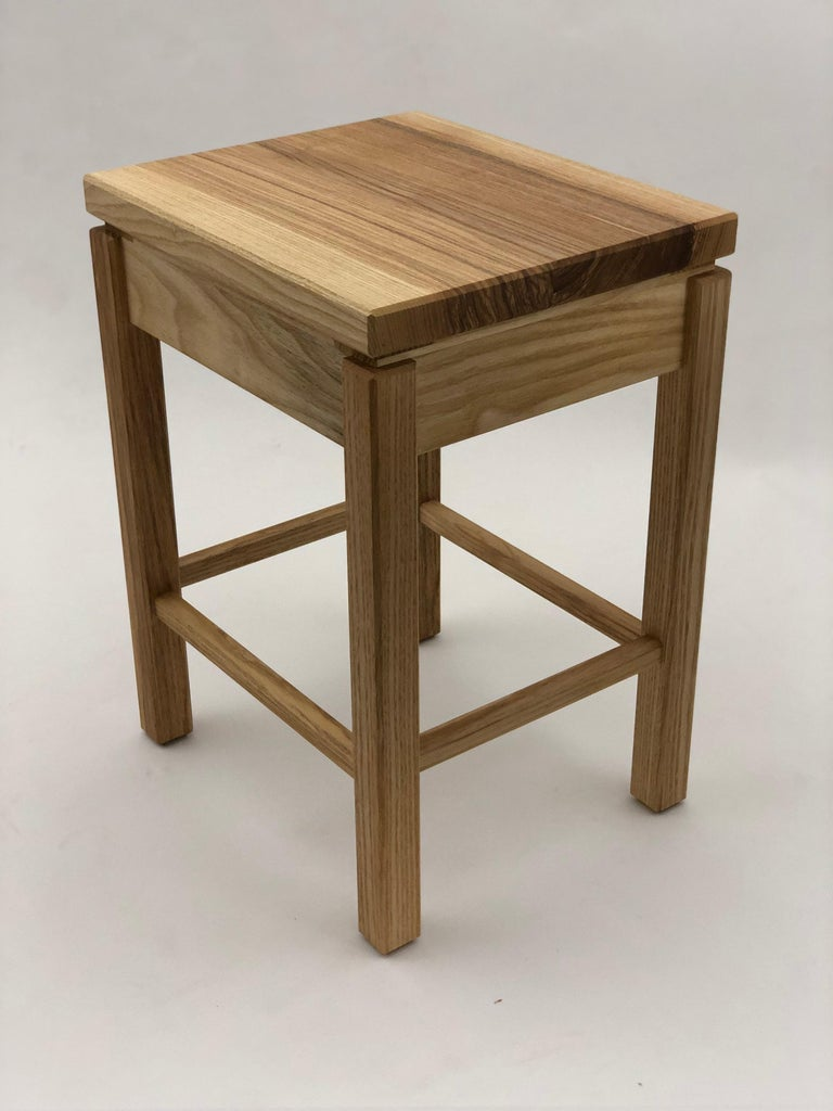 Contemporary take on Sashimono furniture, utilizing carefully handmade interlocking joinery. This nightstand features a drawer made with handcut dovetailed construction. In traditional Sashimono drawers are made to fit and function in very exacting