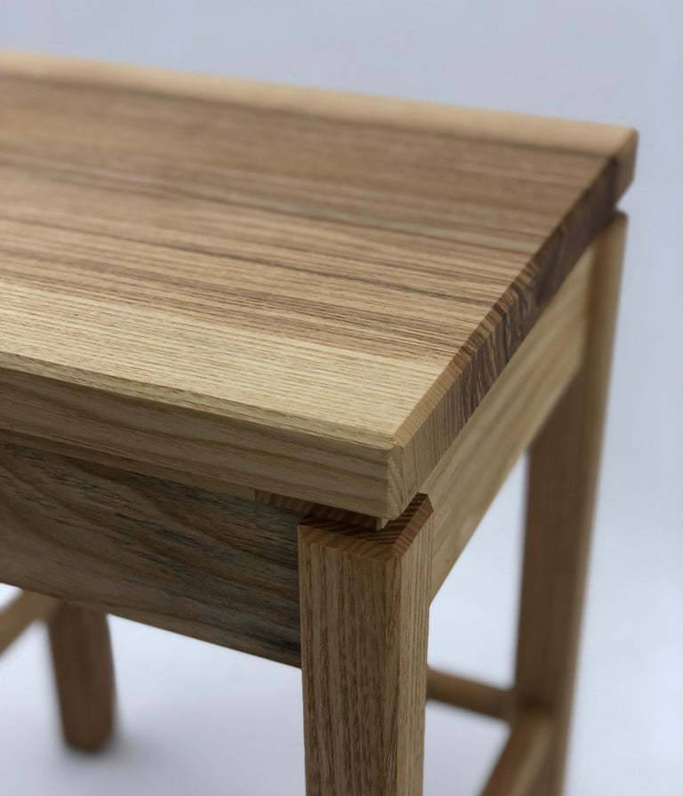 2010s Bedside Table in White Ash with Oil Finish For Sale