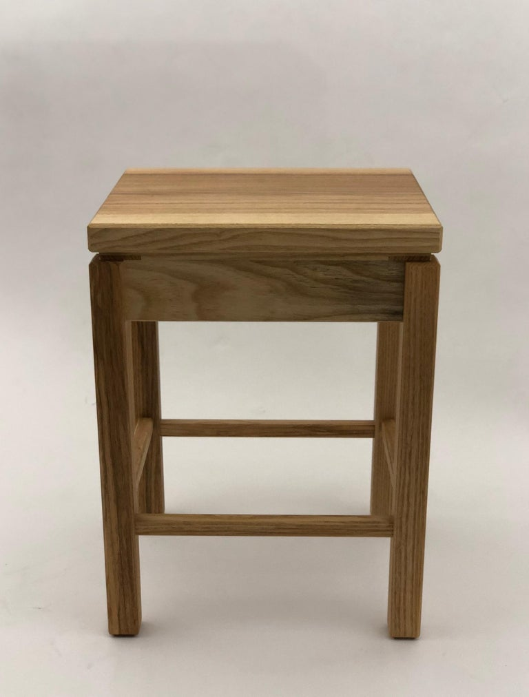 Bedside Table in White Ash with Oil Finish For Sale 1