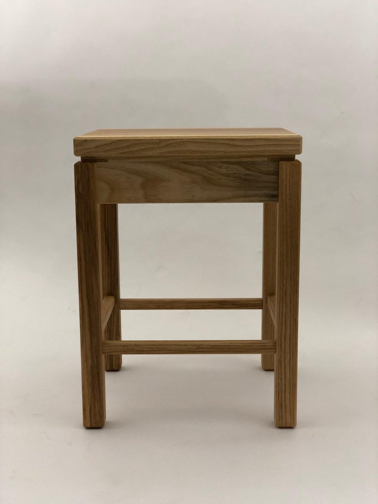 Bedside Table in White Ash with Oil Finish For Sale 2