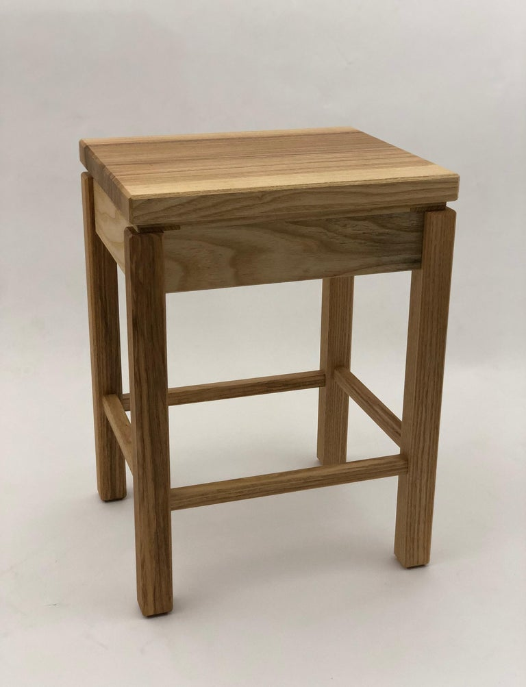 Bedside Table in White Ash with Oil Finish For Sale 3
